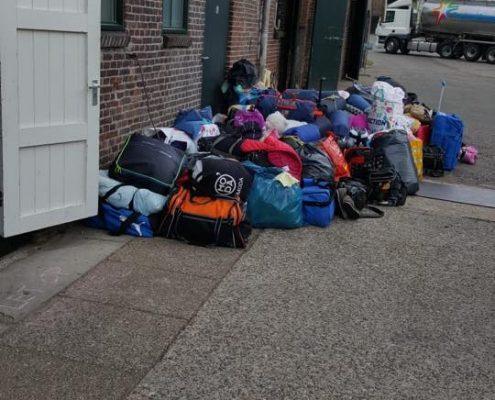 Kamp - Bergen met spullen